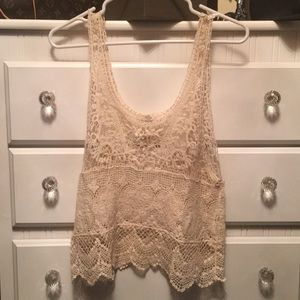 Lace tank top by ISSI